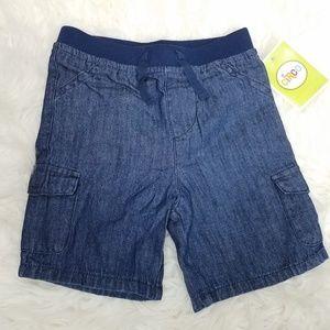 Circo Soft Denim Shorts 24 Mos Blue